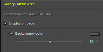 TTG page grid area background control