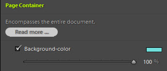 Page Container background-color setting