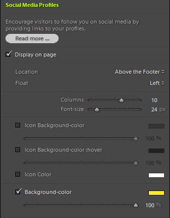 TTG Social Media Profiles background-color control